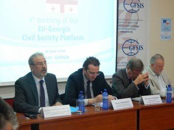 საქართველო-ევროკავშირის სამოქალაქო საზოგადოების პლატფორმის პირველი შეხვედრა